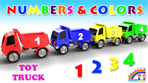 100 Youtube Truck Videos Learn Numbers And Colors For Kids With Toy For
