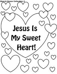 Church House Collection Blog Jesus Is My Sweet Heart Coloring Page For Sunday School Or