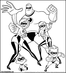The Incredibles Color Page Disney Coloring Pages Plate Sheetprintable