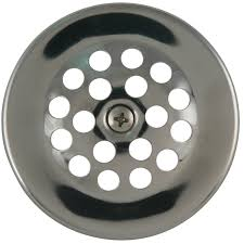 Bathtub Trip Lever Cover by Shop Keeney Chrome Metal Strainer Dome Cover At Lowes Com