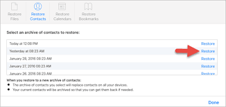 How to restore contacts on my iPhone