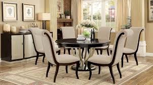 Ornette Espresso Round Dining Room Set