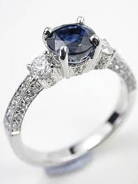 Antique Style Sapphire Engagement Ring RG 3341a Topazery