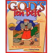 30613 Gods Ten Best The Commandments Coloring Book