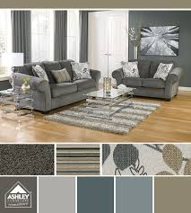 Blue grays with a cool floral print Makonnen Sofa Ashley Furniture HomeStore