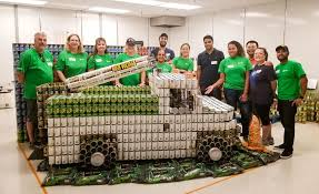 SCE Volunteers Cook Up Electric Bucket Truck Made Of Food Cans | 3BL ... Amazoncom Little Tikes Dirt Diggers 2in1 Dump Truck Toys Games 2017 Hess And End Loader Light Up Toy Goodbyeretail Intertional 4300 Altec Bucket C Flickr Long Haul Trucker Newray Ca Inc Sce Volunteers Cook Electric Made Of Food Cans 3bl Buy Bruder 116 Man Tga Low Online At Universe Decool 3350 King Steer Building Block Set Lloyd Ralston Ho Scale 7600 Utility Wbucket Lift Yellow Air Pump Crane Series Brands Products Www Lighted Ford F450 Xl Regular Cab Drw Service Body Lego Technic Lego 8071 Muffin Songs