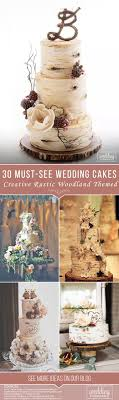 36 Must See Rustic Woodland Themed Wedding Cakes