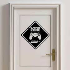 gamer zone tür aufkleber gamer wand vinyl aufkleber controller abziehbilder für kinder zimmer junge schlafzimmer dekoration a215