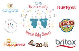 Baby Shower Logo by Twiniversity Virtual Baby Shower Alert 10 24 8pm Et Twiniversity