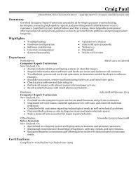 configuration pc bureau computer repair technician resume exles created by pros