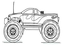 Monster Truck Colouring Pictures To Print Printable Coloring Pages Full Size