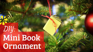Christmas Tree Books Diy by Diy Mini Notebook Christmas Ornament Sea Lemon Youtube