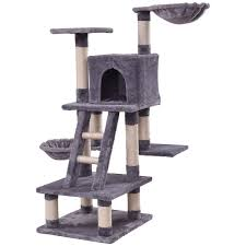 Shop Gymax 46 Cat Tree Kitten Pet Play House Furniture Condo