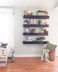 Best 25 Floating Shelf Decor Ideas On Pinterest Living Room Intended For Decorations Shelves In