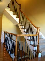 Wood Stairs And Rails And Iron Balusters: How To Replace Painted ... Are You Looking For A New Look Your Home But Dont Know Where Replace Banister Neauiccom Replacing Half Wall With Wrought Iron Balusters Angela East Remodelaholic Stair Renovation Using Existing Newel Fresh Best Railing Replacement 16843 Heath Stairworks Servicescomplete Removal Of Old Railing Staircase Remodel From Mc Trim Removal Carpet Home Design By Larizza Chaing Your Wood To On Fancy Stunning Styles 556