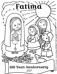 FATIMA 100 Year Anniversary Coloring Page