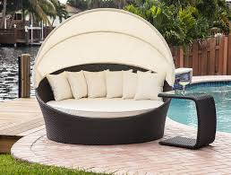 Relax In Style With This Fabulous Outdoor Sun Lounger Built Canopy