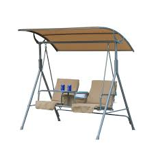 Outsunny Patio Furniture Assembly Instructions by Aosom Outsunny 2 Person Covered Patio Swing W Pivot Table