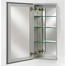 Jensen Medicine Cabinets Recessed by Broadway Collection Frameless Single Door 15 U0027 U0027 To 24