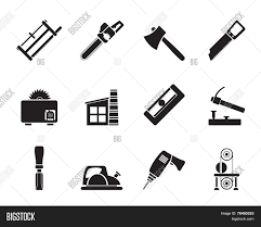 Silhouette Woodworking Industry And Tools Icons