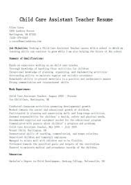 Daycare Resume Examples Child Care Sample No Experience Job And Template Center Childcare