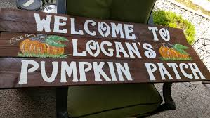 Caledonia Pumpkin Patch by Wood Pumpkin Patch Sign W Stake Fall Decor Sign Front
