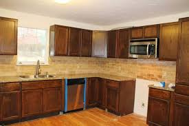 decorating chic travertine tile kitchen for the of your