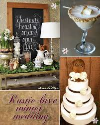 Rustic Winter Wedding Ideas From Cake To Snack Bar