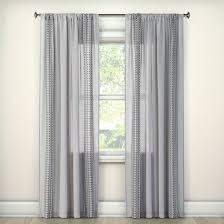Gray Ombre Curtains Target by Stitched Edge Sheer Window Curtain Panel Gray 60