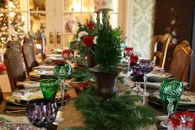 Spode Christmas Tree Wine Glasses by Vignette Design Christmas Tree Grove Tablescape 2010