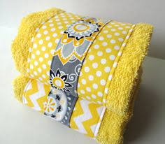 Gray Chevron Bathroom Set by Set Of 3 Yellow And Grey Towel Set Hand Towels Yellow And Grey