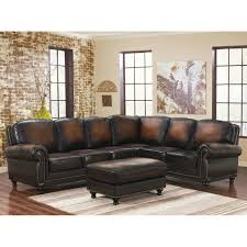 Furniture Trendy Havertys Leather Sectional For Cozy Living Room