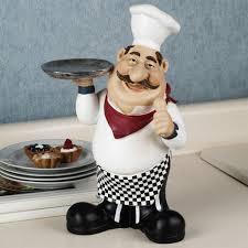 Fat French Chef Kitchen Curtains home design bistro fat chef kitchen decor figurine wall