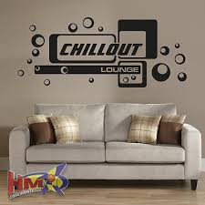 wall decals stickers hm wandtattoo chillout lounge