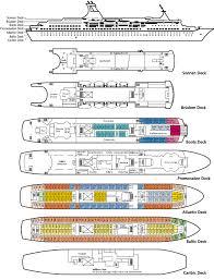 Azamara Journey Ship Deck Plan by Clubtravel Cruises M S Astor