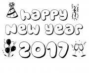 New Year 2017 Coloring Pages 3