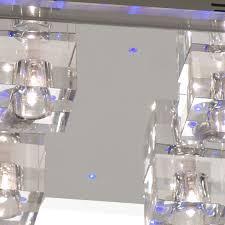 deckenle mit blauem led effekt und halogen leuchten