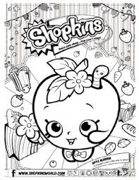 Shopkins Coloring Page 6 Pages