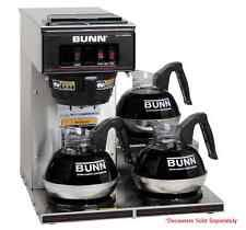 Restaurant Coffee Maker Bunn VP17 3 Commercial Pourover Brewer With Warmers