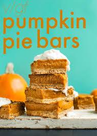 Healthy Pumpkin Desserts For Thanksgiving by Creamy Pumpkin Pie Bars Minimalist Baker Recipes