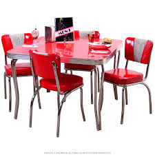 Commercial Grade Retro Kitchen Table With Chair Set Consists Of A 42 X Inch Square