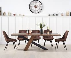 Chateau 180cm Black Leg Dining Table With Marcel Antique Dining ...