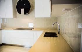 Designer Patterned Kitchen Glass Splashback Modern