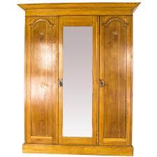 Tiger Oak Dresser Beveled Mirror by Antique Armoire Triple Mirror Oak Arts And Crafts Wardrobe