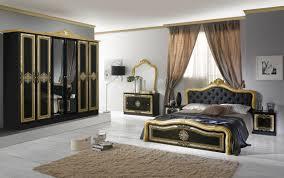 schlichter schlafzimmer set lazise 6 teilig schwarz gold schrank 6 türig bett wählen 2x nachttisch kommode spiegel schlafzimmer