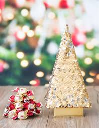 Sequin Christmas Tree With Chocolate Truffles