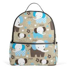 Amazoncom Cute Elephant Baby School Backpack Canvas Rucksack