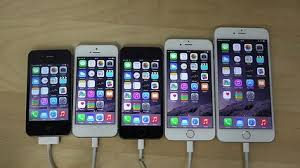 iPhone 6 Plus vs iPhone 6 vs iPhone 5S vs iPhone 5 vs iPhone