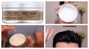 bed head pure texture molding paste review tutorial youtube