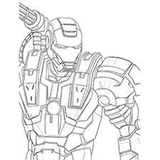War Machine Iron Man Coloring Pages